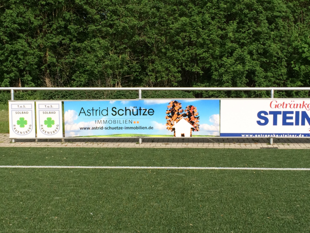 Banner beim TuS Solbad