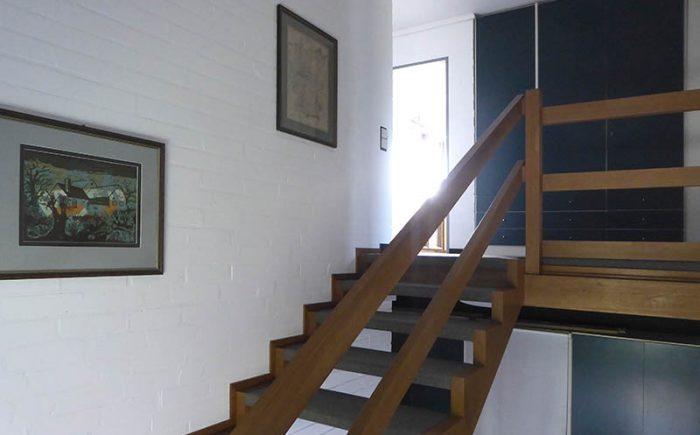 Das Treppenhaus zum Obergeschoss
