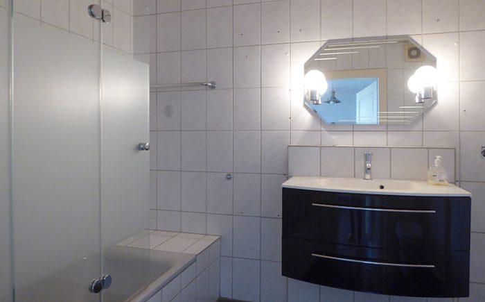 und das Badezimmer